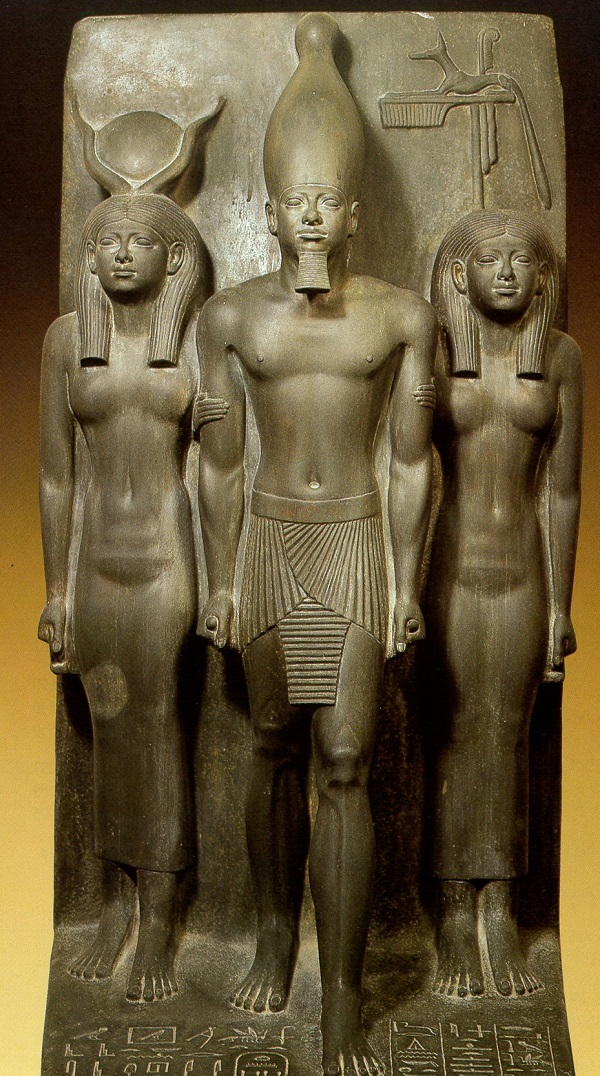 an analysis of sculpture group of king menkaure and his queen This paper will employ close visual analysis of the ancient egyptian statue, menkaure and his queen khamerernebty sculpture (title) the.